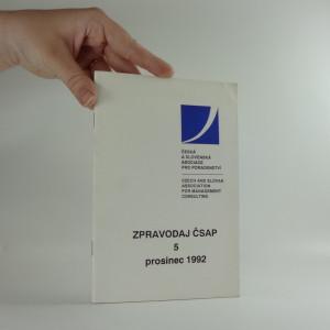 náhled knihy - Zpravodaj ČSAP 5, prosinec 1992