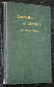 náhled knihy - Quartettes and choruses for men's voices