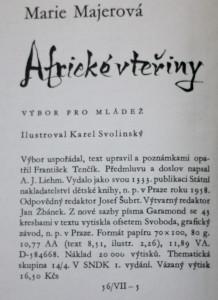 antikvární kniha Africké vteřiny : Výbor pro mládež, 1958