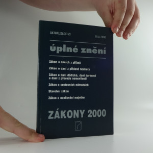 náhled knihy - Úplné znění zákony 2000, sešit 3