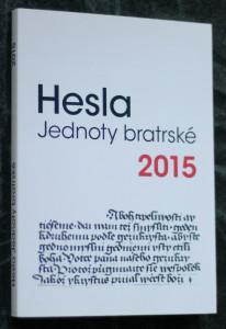 náhled knihy - Hesla Jednoty bratrské 2015
