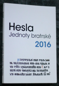 náhled knihy - Hesla Jednoty bratrské 2016