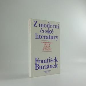 náhled knihy - Z moderní české literatury - o vybraných dílech z první poloviny 20. století