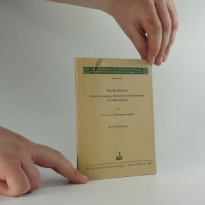 náhled knihy - Hochvakuum : Seine Erzeugung, Massung und Anwendung im Laboratorium