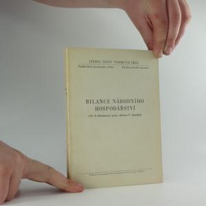 náhled knihy - Bilance národního hospodářství