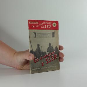 náhled knihy - Co si odnášíme z SSSR : Myšlenky československých vojáků vracejících se do vlasti