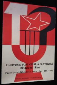 náhled knihy - Z historie bojů české a slovenské dělnické třídy : Pásmo písní dělnického hnutí z let 1844-1941
