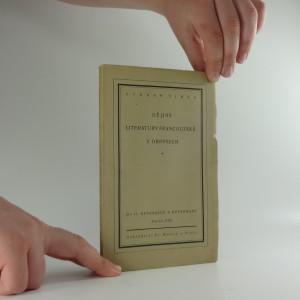náhled knihy - Dějiny literatury francouzské v obrysech. Díl II., Renesance a reformace. Století XVI.