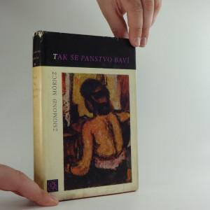 náhled knihy - Tak se panstvo baví