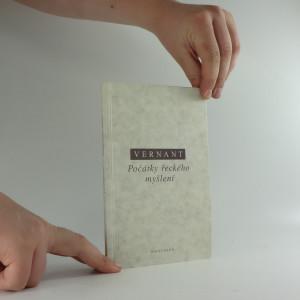 náhled knihy - Počátky řeckého myšlení