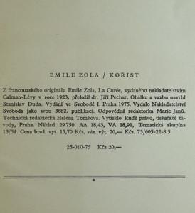 antikvární kniha Kořist, 1975
