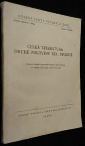 náhled knihy - Česká literatura druhé poloviny 19. století