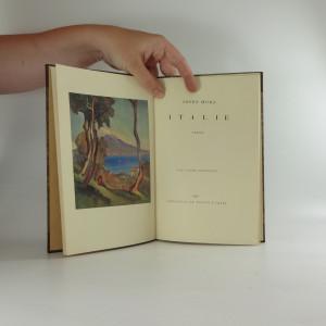 antikvární kniha Italie : verše, 1925