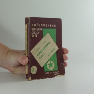 náhled knihy - Slovník esperantsko-český