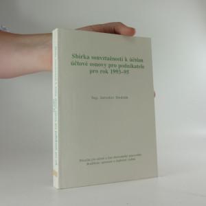 náhled knihy - sbírka souvztažností k účtům účtové osnovy pro podnikatele pro rok 1993-1995
