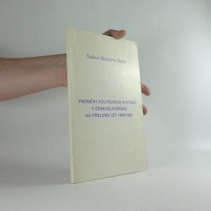 náhled knihy - Proměny politického systému v československu na přelomu let 1989/1990