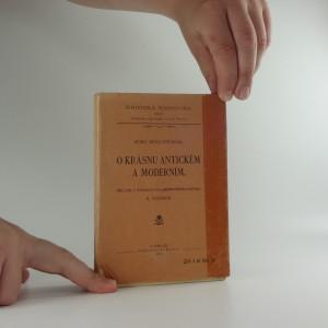 náhled knihy - O krásnu antickém a moderním