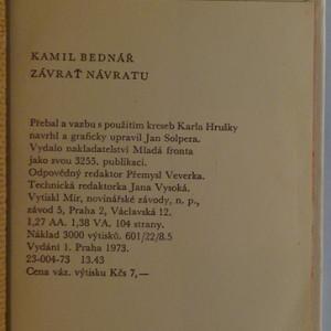 antikvární kniha Závrať návratu, 1973