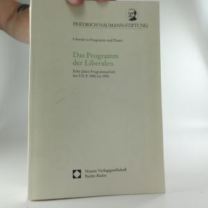 náhled knihy - Das Programm der Liberalen