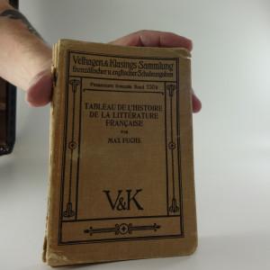 náhled knihy - Tableau de l'histoire de la litterature Francaise