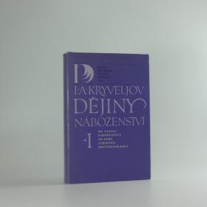 náhled knihy - Dějiny náboženství, díl I.