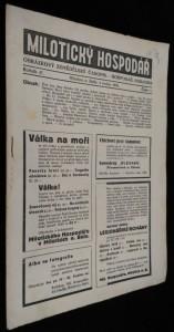 náhled knihy - Milotický hospodář, 1. číslo, ročník 47.
