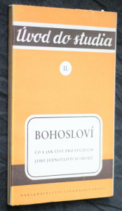 náhled knihy - Bohosloví : co a jak číst pro studium jeho jednotlivých oborů