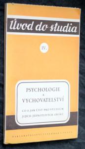 náhled knihy - Psychologie a vychovatelství : Co a jak číst pro studium jejich jednotlivých oborů