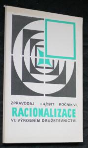 náhled knihy - Zpravodaj racionalizace ve výrobním družstevnictví 4/1977, ročník VI.