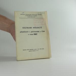 náhled knihy - Seznam hřebců v plemenitbě 1987