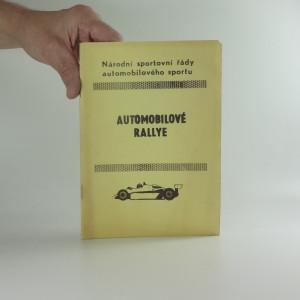 náhled knihy - Národní sportovní řády automobilového sportu: Automobilové Rally