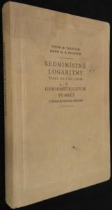 náhled knihy - Sedmimístné logaritmy čísel od 1 do 110 000 a goniometrických funkcí v šedesátinném dělení