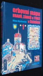 náhled knihy - Erbovní mapa hradů, zámků a tvrzí v Čechách