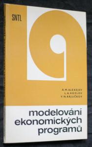 náhled knihy - Modelování ekonomických programů