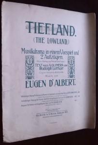 náhled knihy - Tiefland (The Lowland): Musikdrama in einem Vorspiel und 2 Aufzügen