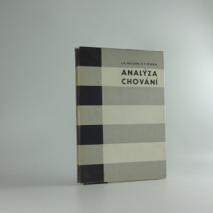 náhled knihy - Analýza chování : autoinstrukční program