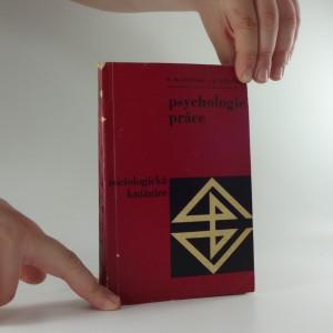 náhled knihy - Psychologie práce : základní otázky
