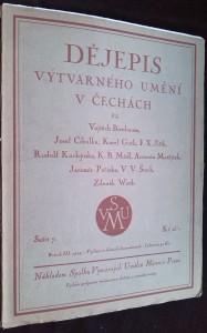 náhled knihy - Dějepis výtvarného umění v Čechách, roč. III, sešit 7