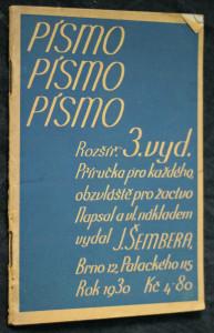 náhled knihy - Písmo : příručka pro každého, zvláště pro žactvo