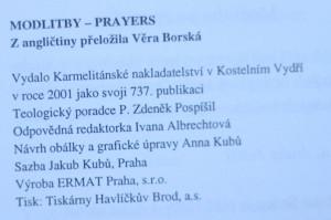 antikvární kniha Modlitby = Prayers, 2001