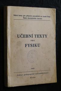 náhled knihy - Učební texty pro fysiku