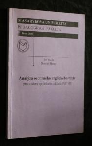 náhled knihy - Analýza odborného anglického textu : pro studenty společného základu PdF MU