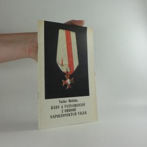 náhled knihy - Řády a vyznamenání z období napoleonských válek