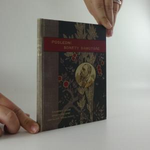 náhled knihy - Poslední sonety samotáře