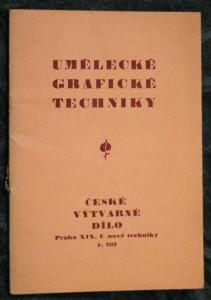 náhled knihy - Umělecké grafické techniky :[Graphische Kunsttechniken