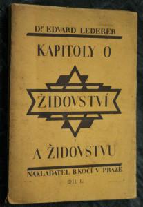 náhled knihy - Kapitoly o židovství a židovstvu, díl I.