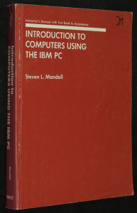 náhled knihy - Introduction to Computers Using the IBM PC