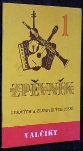 náhled knihy - Zpěvník lidových a zlidovělých písní - valčíky.