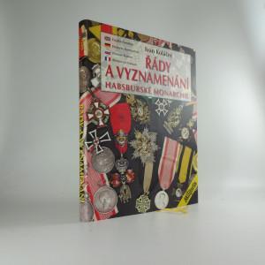náhled knihy - Řády a vyznamenání Habsburské monarchie