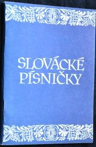 náhled knihy - Slovácké písničky